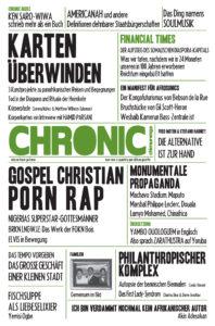 CHIMURENGA CHRONIC - GERMAN 001 - COVER