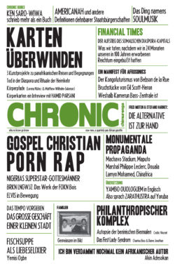 CHIMURENGA CHRONIC - GERMAN 001 - COVER